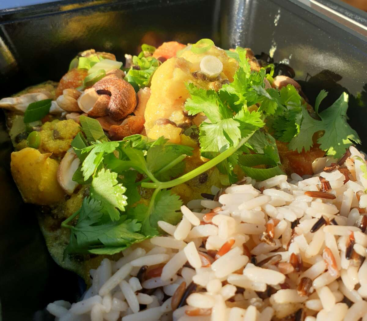 Bloemkool curry veggie